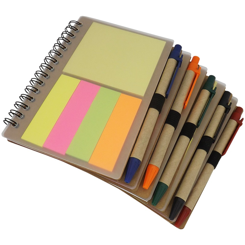 Mini Caderno com Post-It e Memo + Caneta